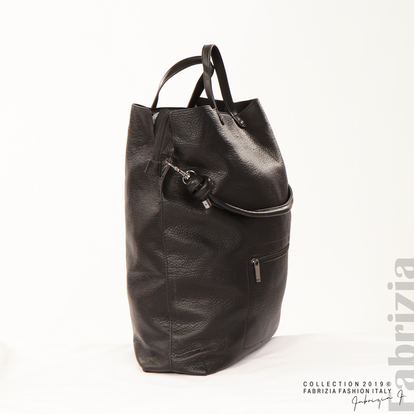 Голяма дамска чанта черен 2 fabrizia