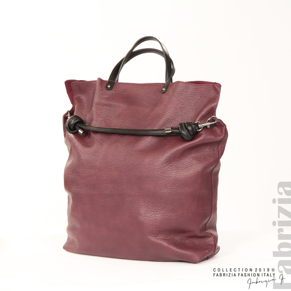Голяма дамска чанта бордо 1 fabrizia