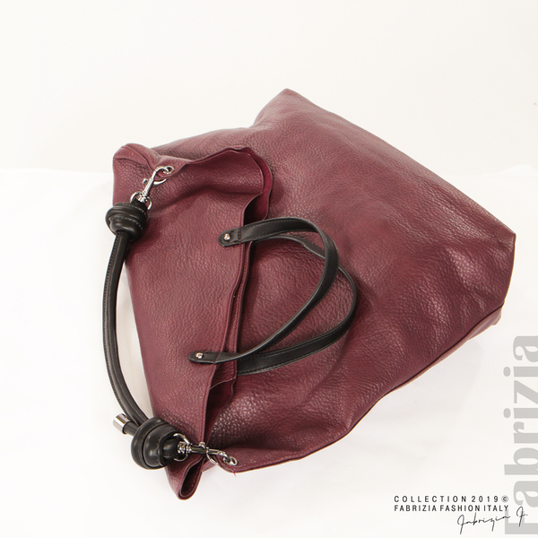 Голяма дамска чанта бордо 5 fabrizia
