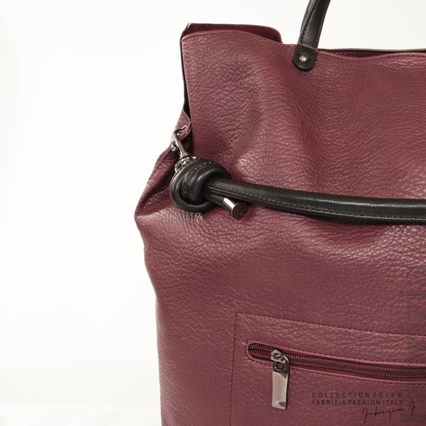 Голяма дамска чанта бордо 3 fabrizia