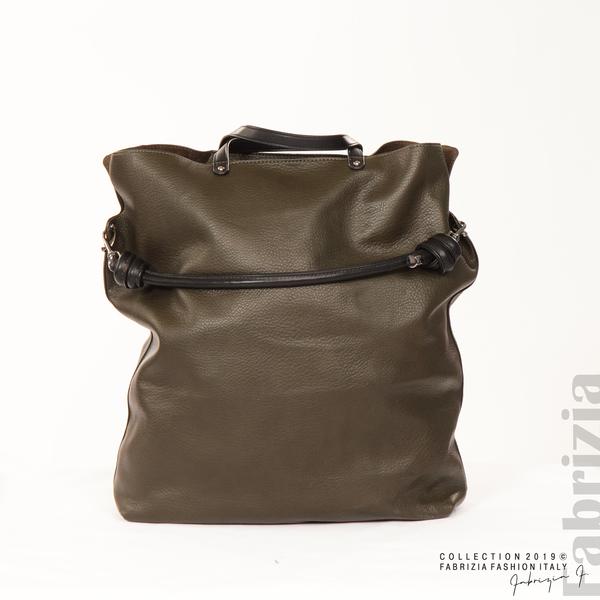 Голяма дамска чанта каки 1 fabrizia