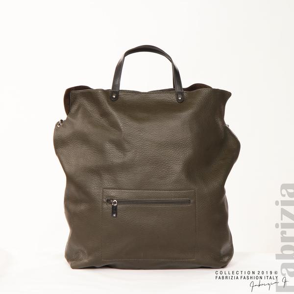 Голяма дамска чанта каки 3 fabrizia