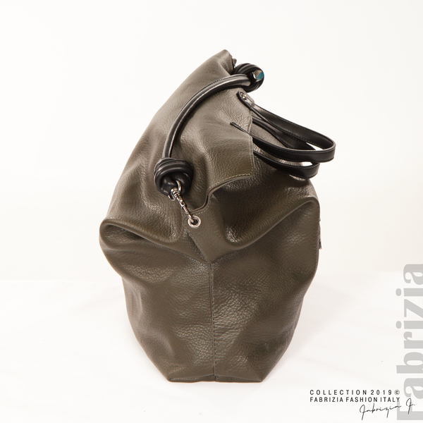 Голяма дамска чанта каки 6 fabrizia