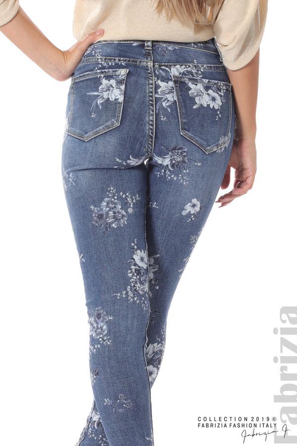 Дамски дънки с десен на цветя 7 fabrizia