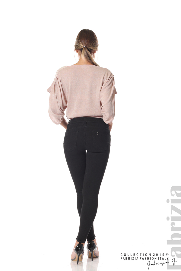 Изчистен дамски панталон черен 4 fabrizia