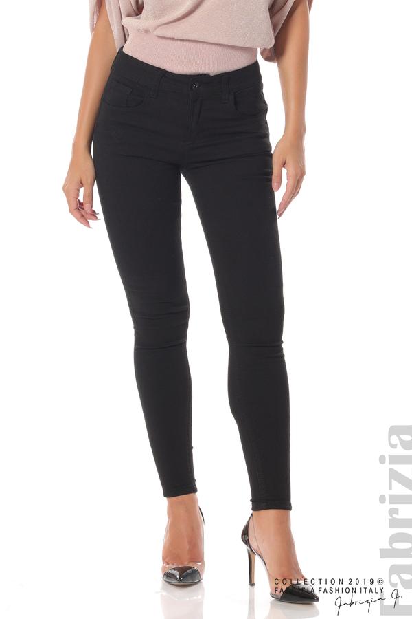 Изчистен дамски панталон черен 2 fabrizia