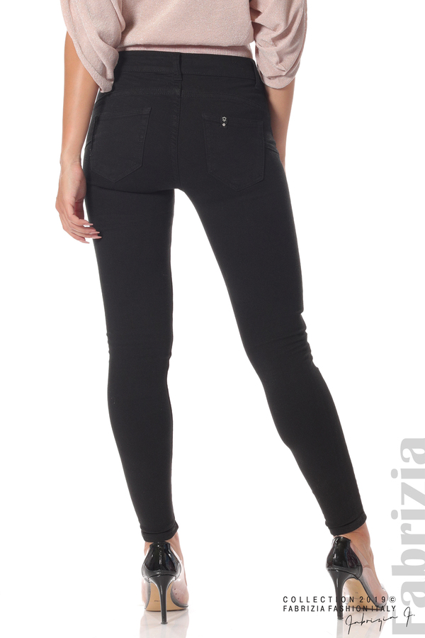 Изчистен дамски панталон черен 5 fabrizia