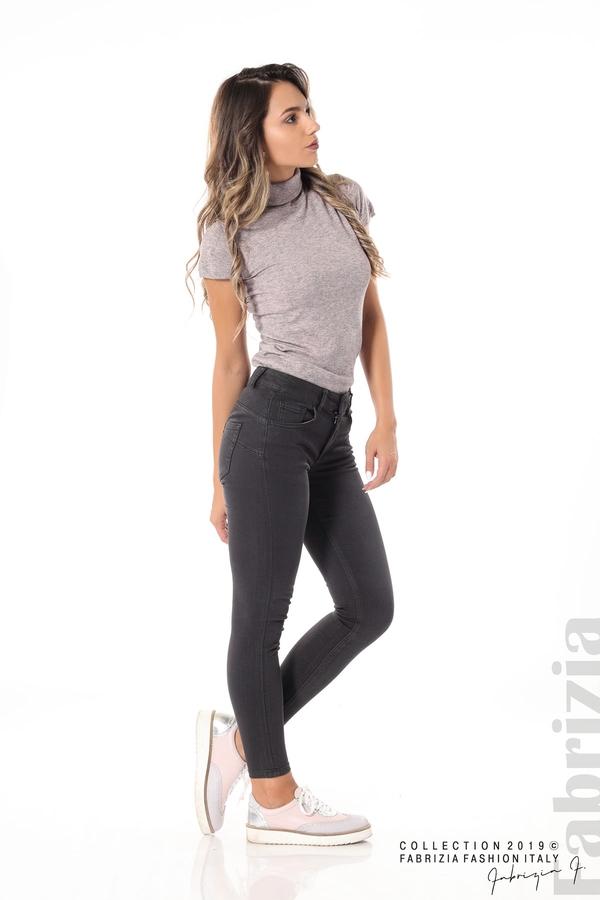 Изчистен дамски панталон сив 3 fabrizia