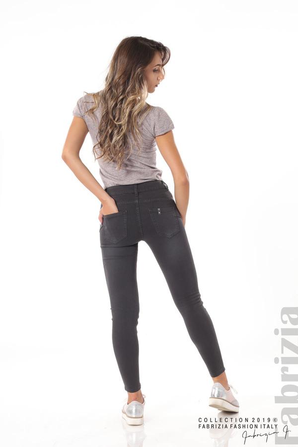 Изчистен дамски панталон сив 6 fabrizia