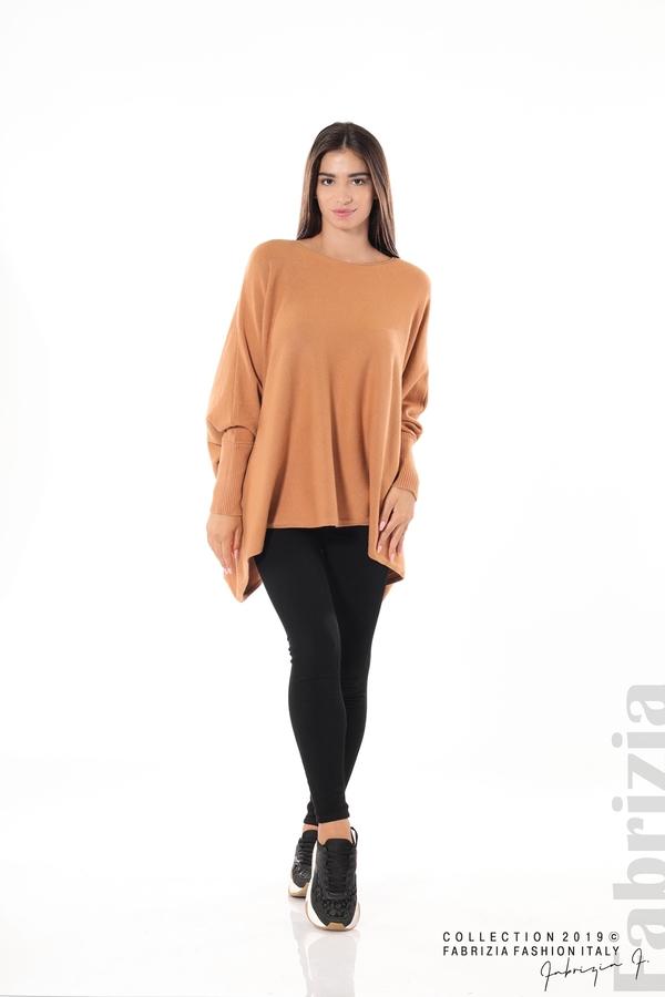 Дамска блуза овърсайз св.кафява 3 fabrizia