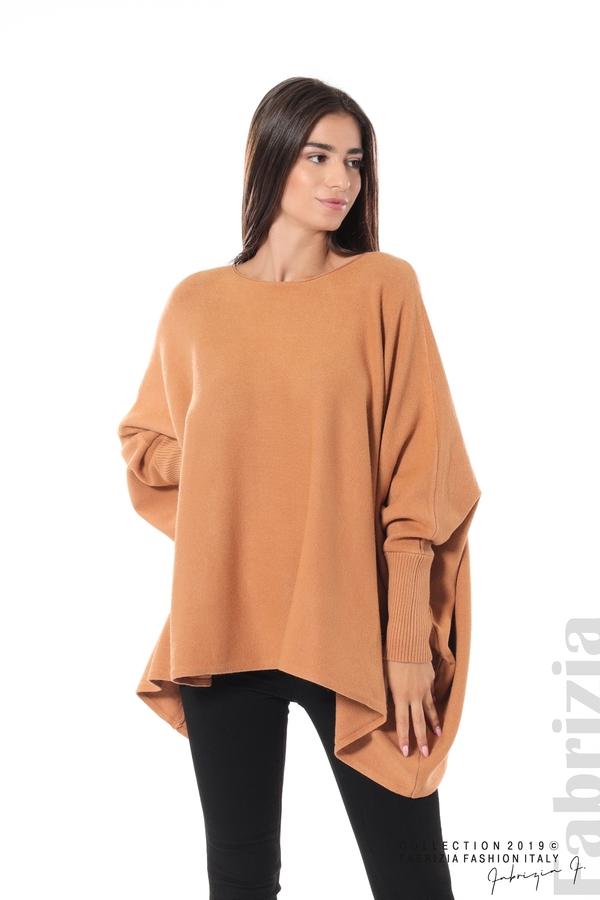 Дамска блуза овърсайз св.кафява 1 fabrizia