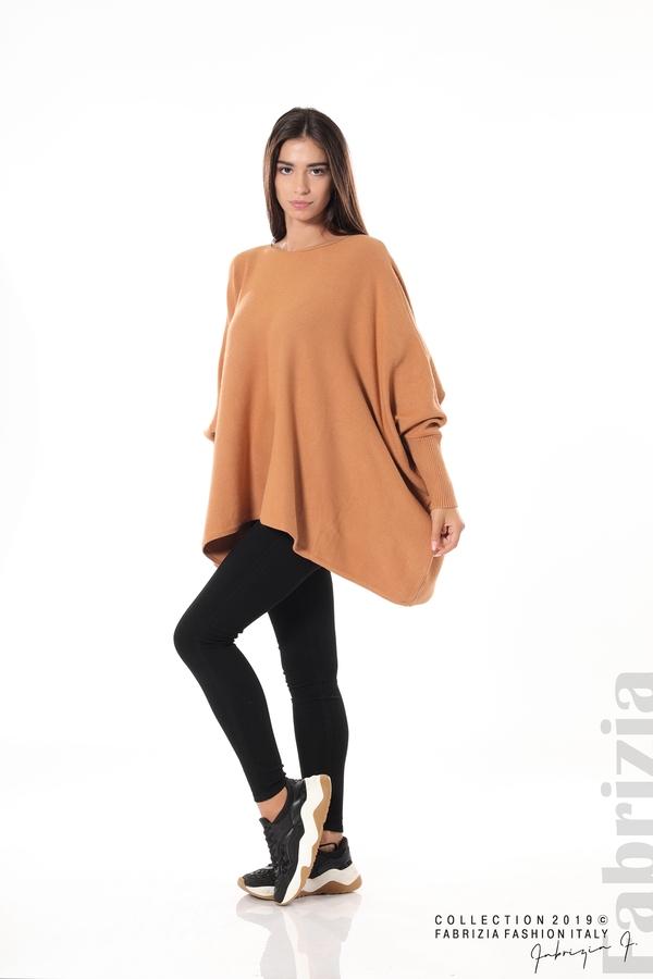 Дамска блуза овърсайз св.кафява 2 fabrizia