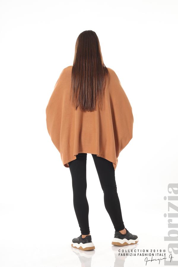 Дамска блуза овърсайз св.кафява 4 fabrizia