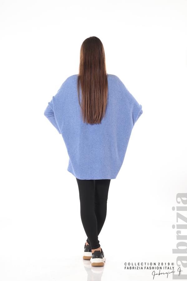 Дамска рипсена блуза бл.син 5 fabrizia