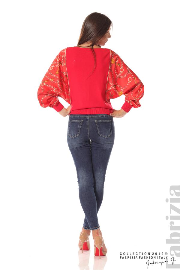 Дамска блуза с прилеп ръкави червен 3 fabrizia