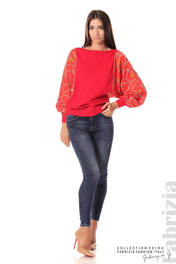 Дамска блуза с прилеп ръкави червен 1 fabrizia