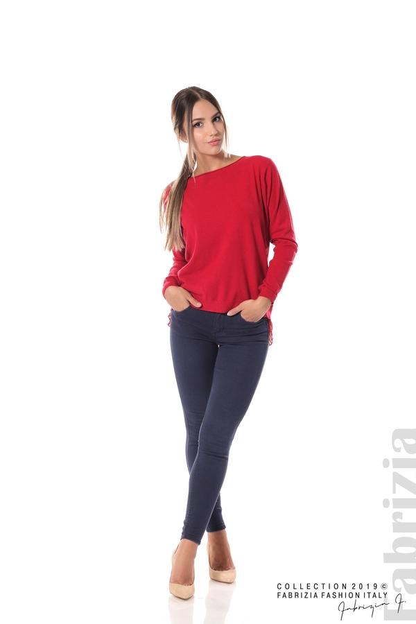 Дамска блуза с ефектен гръб т.червен 3 fabrizia