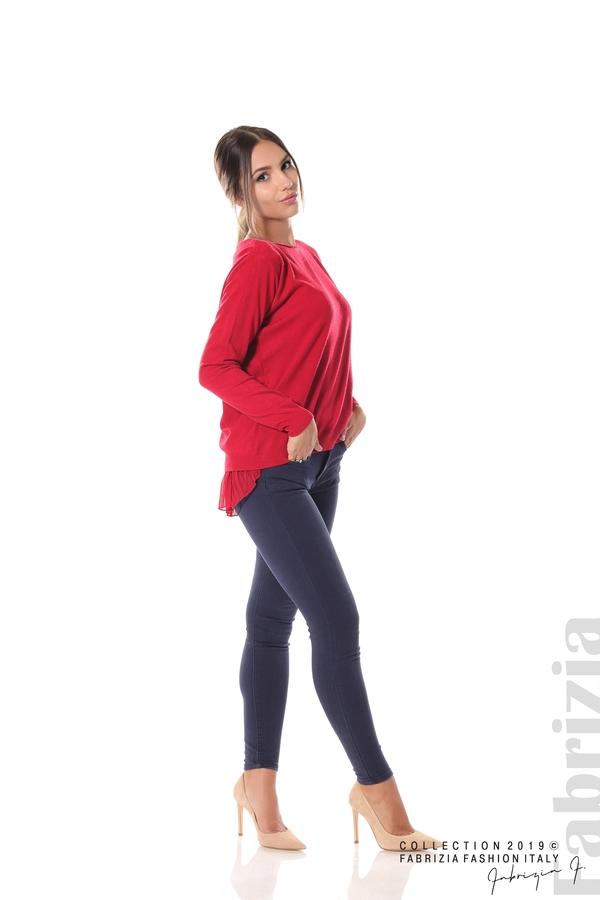 Дамска блуза с ефектен гръб т.червен 2 fabrizia