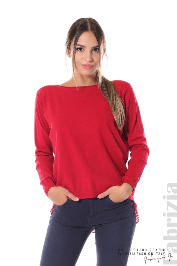 Дамска блуза с ефектен гръб т.червен 1 fabrizia