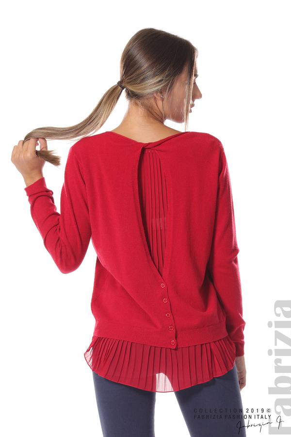 Дамска блуза с ефектен гръб т.червен 5 fabrizia