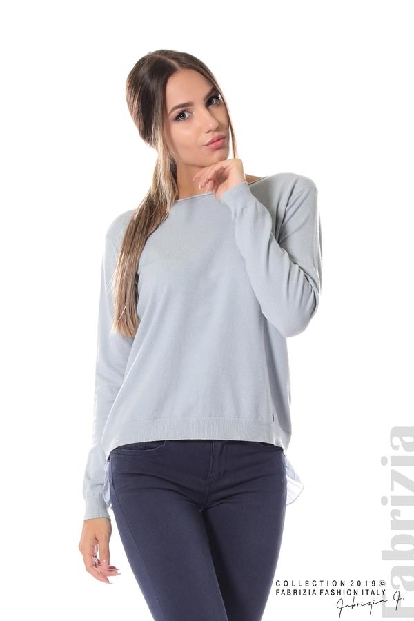 Дамска блуза с ефектен гръб св.син 2 fabrizia