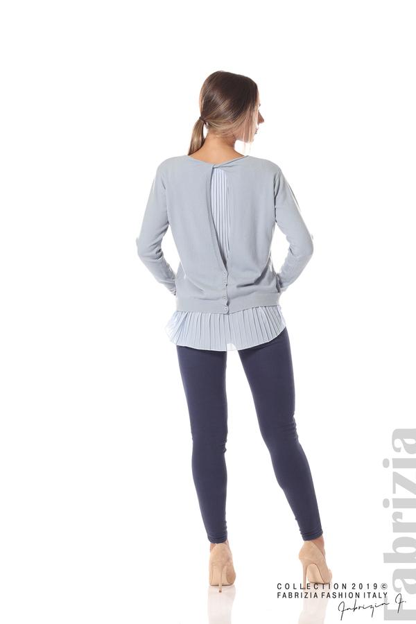 Дамска блуза с ефектен гръб св.син 4 fabrizia
