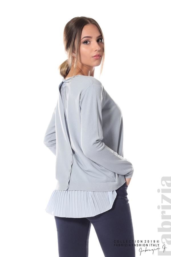 Дамска блуза с ефектен гръб св.син 5 fabrizia