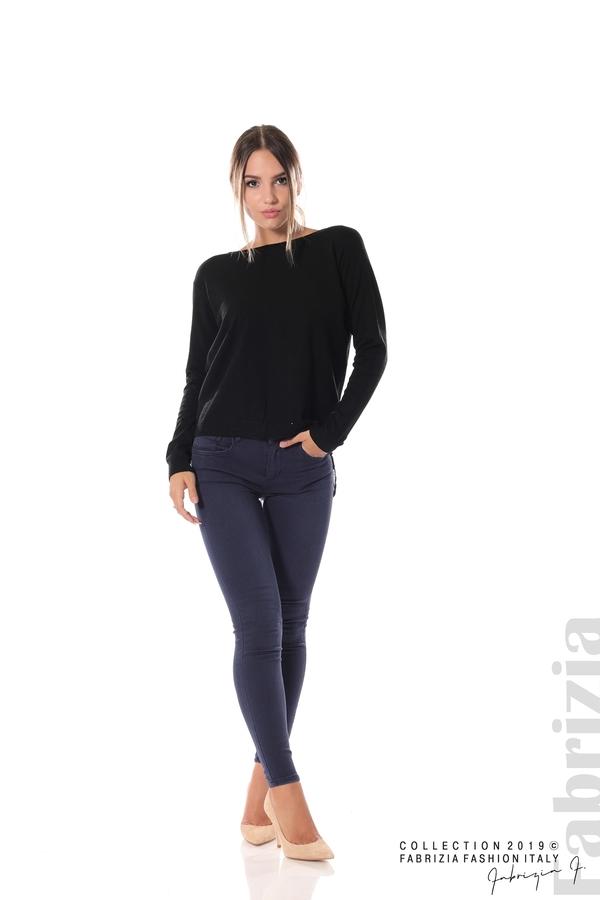Дамска блуза с ефектен гръб черен 2 fabrizia