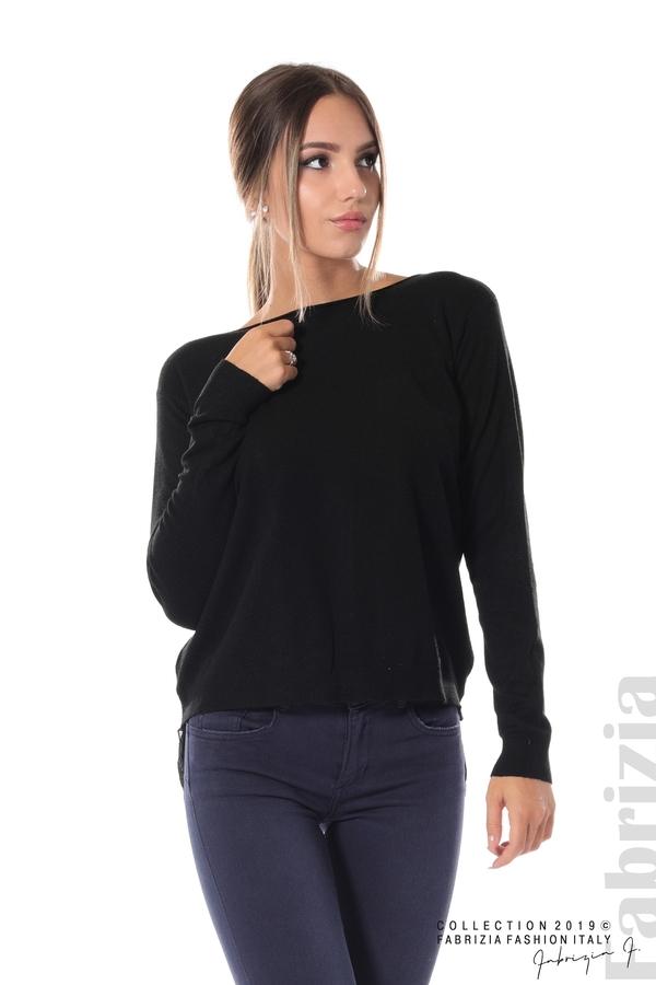 Дамска блуза с ефектен гръб черен 3 fabrizia