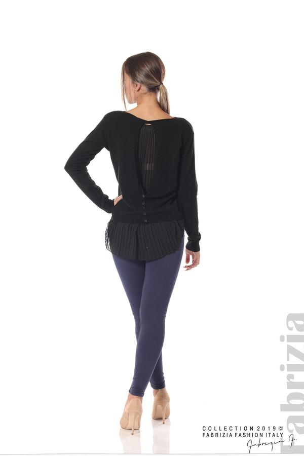 Дамска блуза с ефектен гръб черен 4 fabrizia