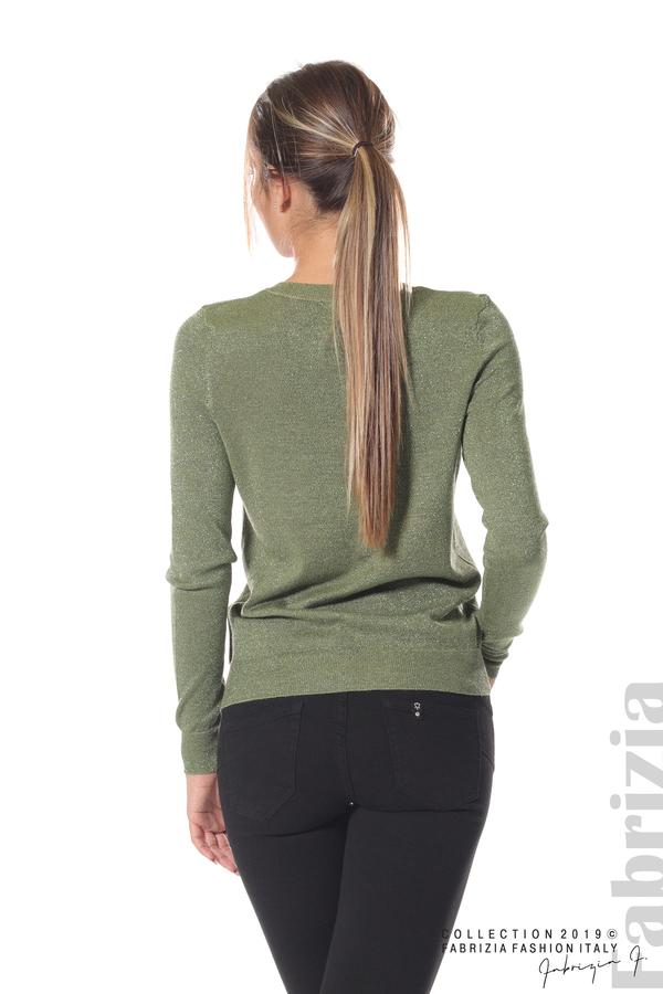 Дамска жилетка с копчета зелен 4 fabrizia