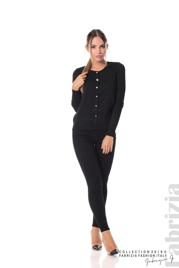 Дамска жилетка с копчета черен 1 fabrizia