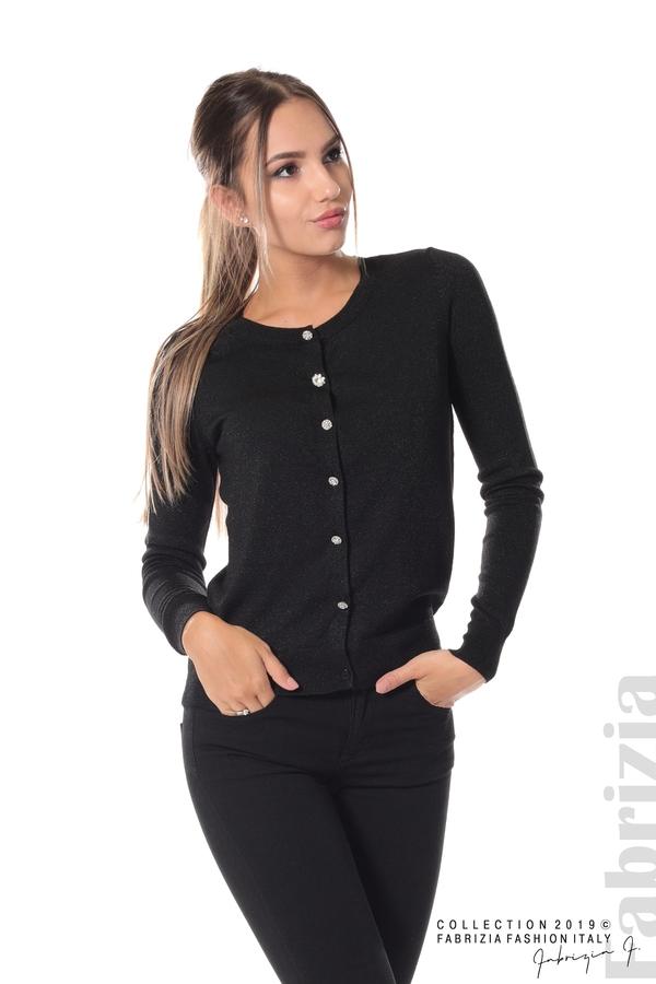 Дамска жилетка с копчета черен 2 fabrizia
