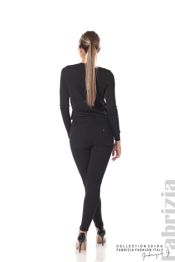 Дамска жилетка с копчета черен 4 fabrizia