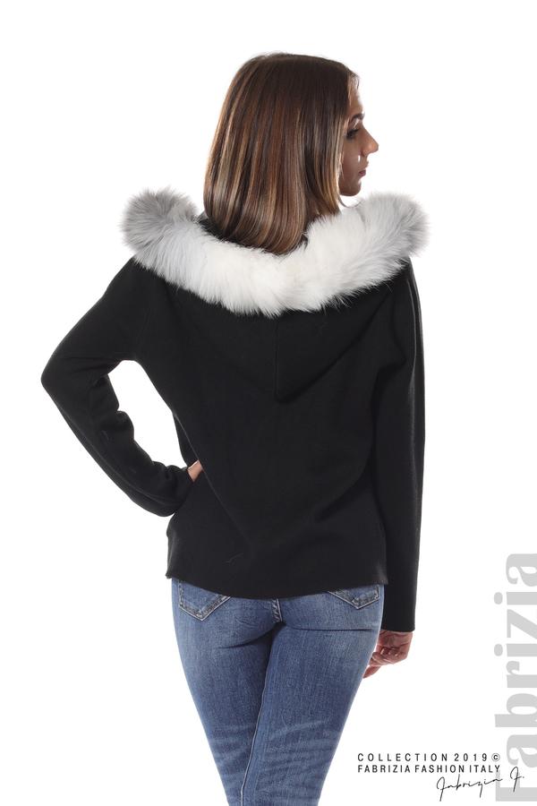 Дамска жилетка с качулка черен 6 fabrizia