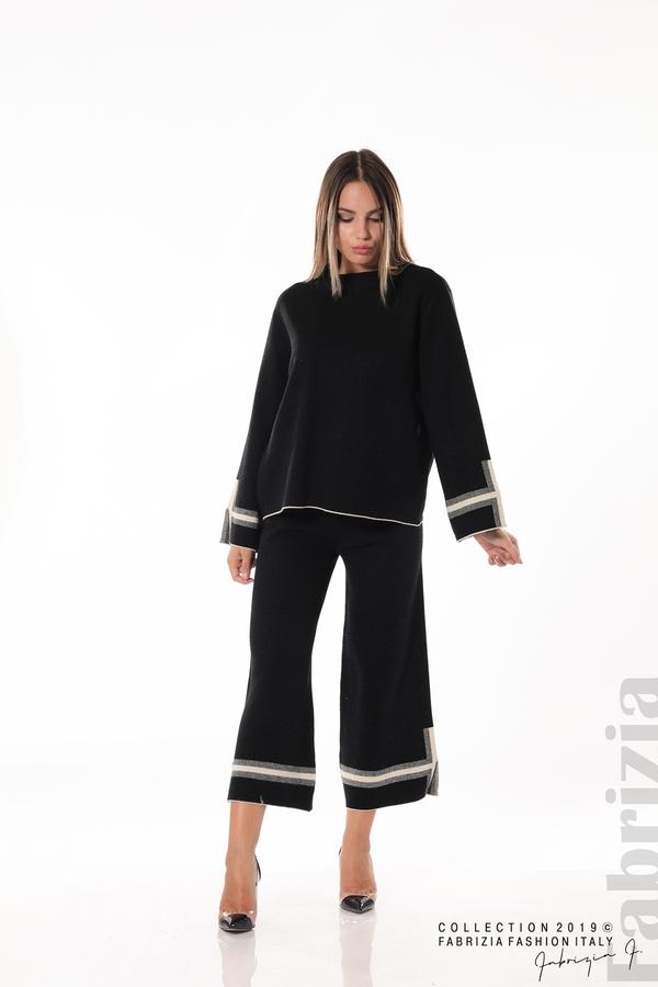 Комплект блуза и панталон чарлстон черен 3 fabrizia