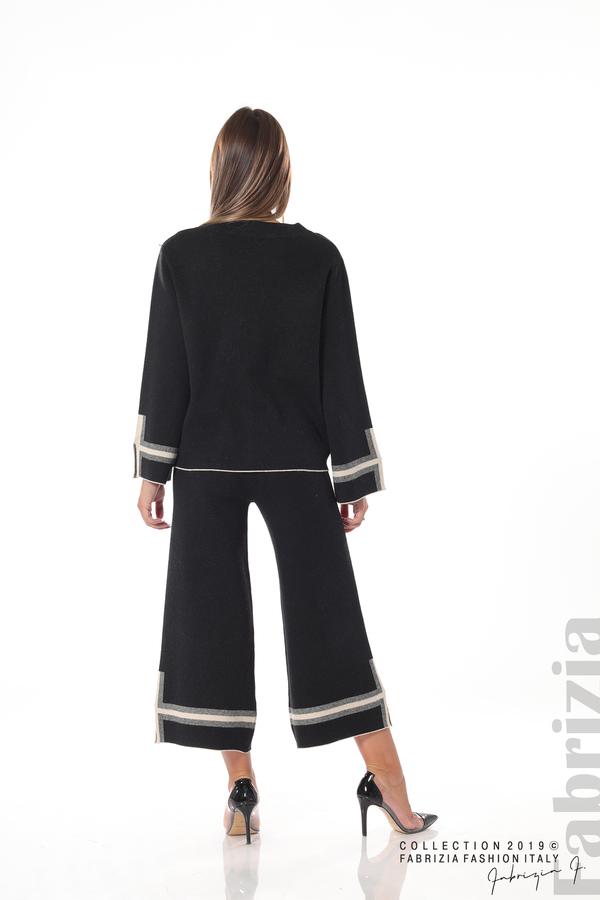 Комплект блуза и панталон чарлстон черен 5 fabrizia
