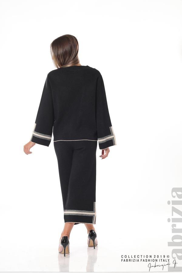 Комплект блуза и панталон чарлстон черен 6 fabrizia