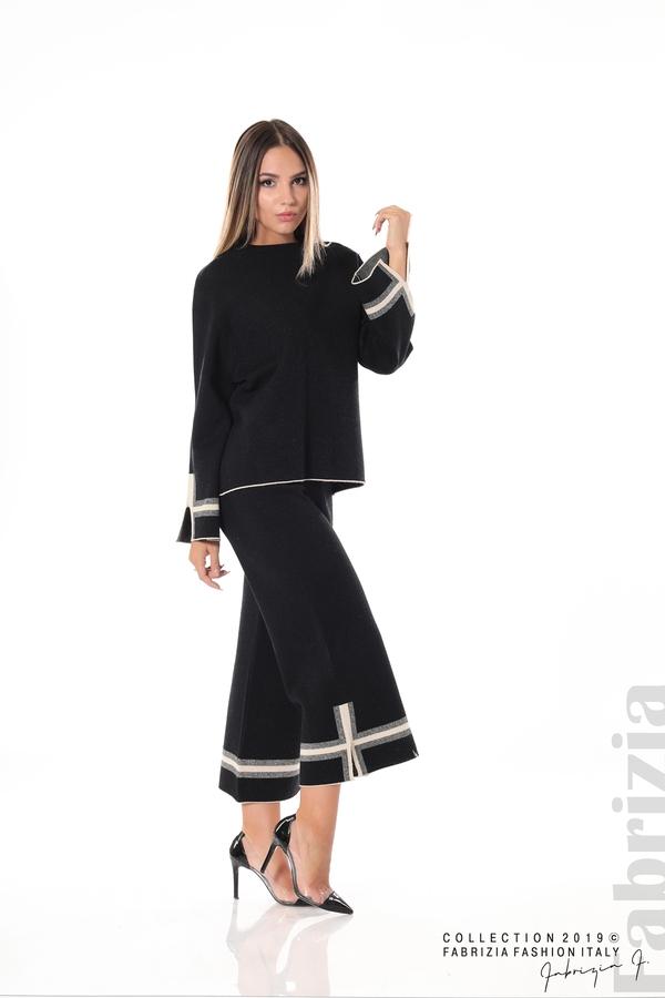 Комплект блуза и панталон чарлстон черен 2 fabrizia