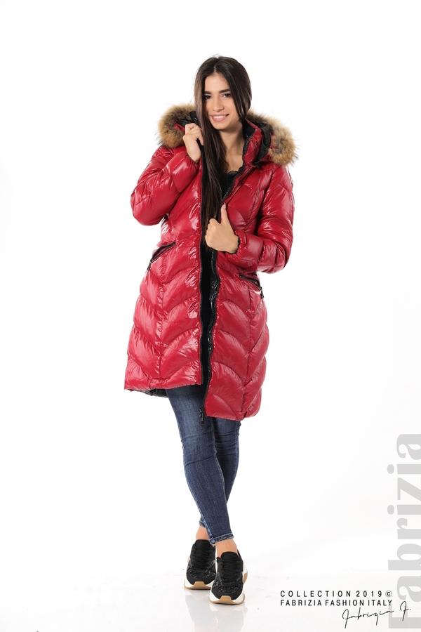 Дълго дамско зимно яке т.червен 4 fabrizia