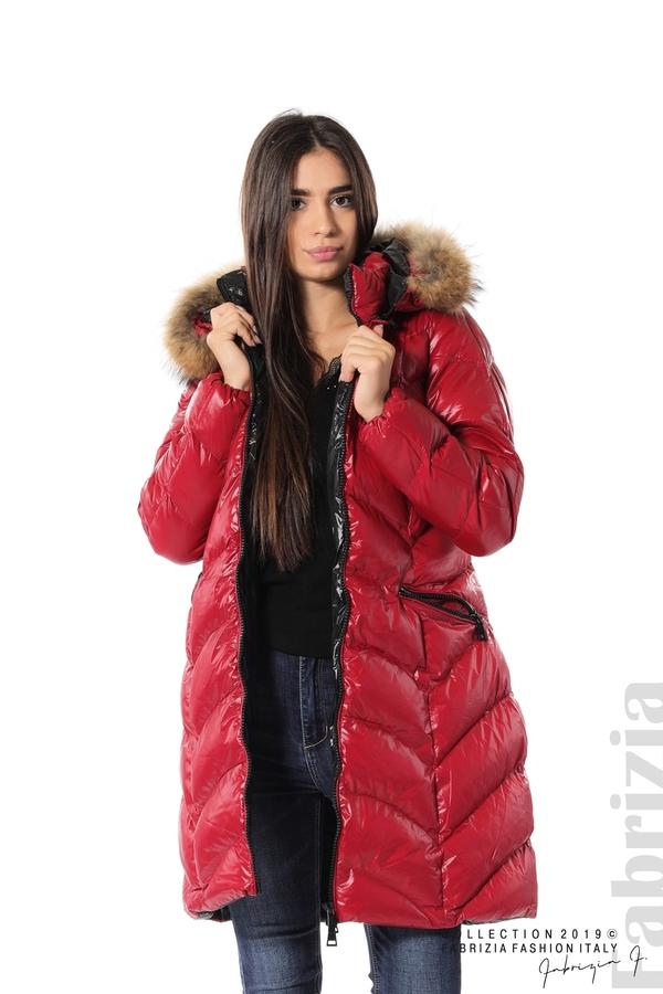 Дълго дамско зимно яке т.червен 1 fabrizia