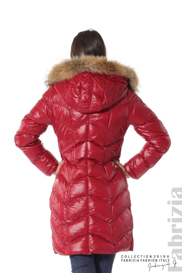Дълго дамско зимно яке т.червен 5 fabrizia