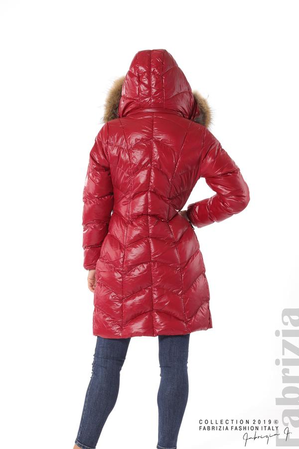 Дълго дамско зимно яке т.червен 6 fabrizia