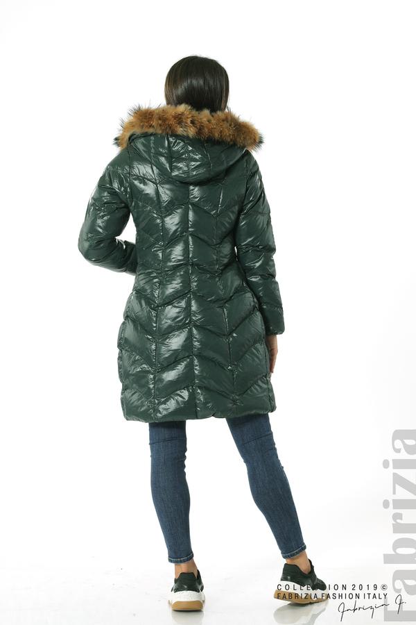 Дълго дамско зимно яке т.зелен 6 fabrizia