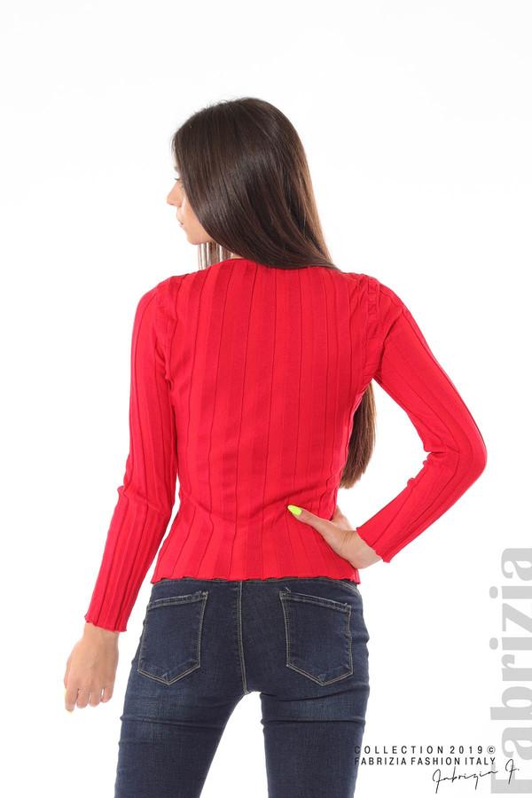Блуза от релефен рипс червен 5 fabrizia