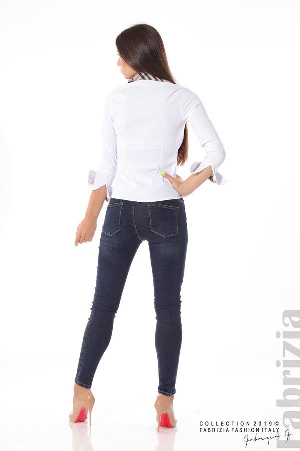 Вталена дамска риза бял 4 fabrizia