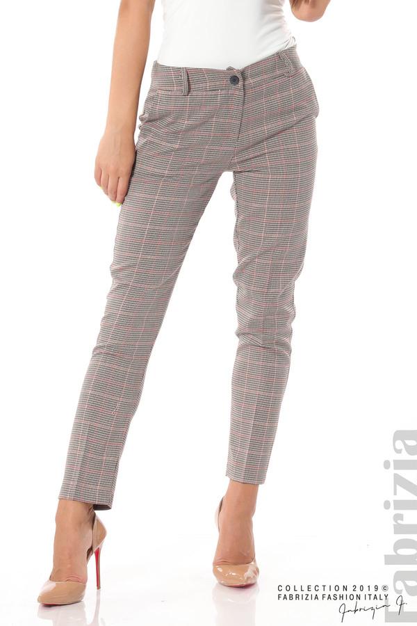 Дамски кариран панталон бежов 2 fabrizia