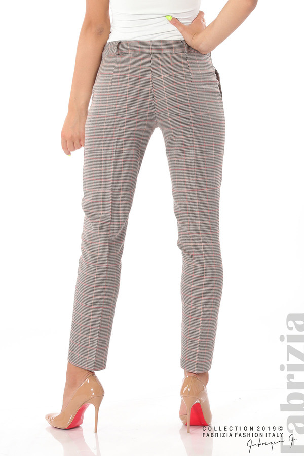 Дамски кариран панталон бежов 7 fabrizia