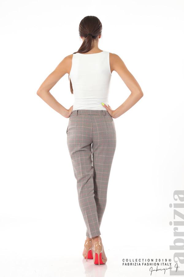 Дамски кариран панталон бежов 5 fabrizia