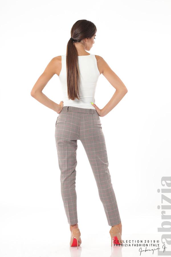Дамски кариран панталон бежов 6 fabrizia